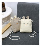 Burlap Bunny Handbags for Children Eater Egg Hunts Cute Purs...