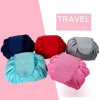 Tembel Kozmetik Çantası 6 Renkler Taşınabilir Güzellik İpli Seyahat Makyaj Çantası Depolama Kozmetik Makyaj Organizatörler Banyo Çantaları OOA4378
