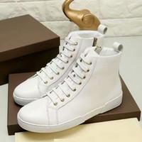 c258ce0026 Homens da marca Sapato de skate top alto Lace-Up Xadrez Vulcanizado sapato  de Lona sapatilhas da moda Plana Impresso Esporte Casual sapato, 38-45