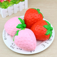 Squishies Jumbo Squishy Slow Lising Strawberry correas lindas encantos Kawaii colgante pan niños juguete juguetes descompresión 50 unids
