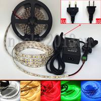 Volledige kit 5m 3528 LED Flexibele strip Light Tape Ribbon 600LEDS Non Waterproof + 12V 3A Voeding + DC-connector
