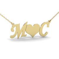 Nome personalizado Colar Com Asas de Anjo Amor Estrelas Do Coração Borboleta Iniciais Letras Charme Amantes Jóias Ketting Hart