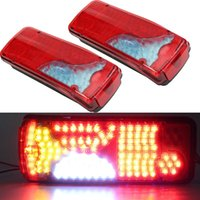 1 Pair 24V Car LED Rear Taillights 120 LEDs Brake Lights for...