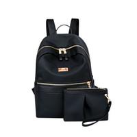 0b9990476 Mochila OCARDIAN Mochila Escolar feminino Conjunto de Duas Peças Saco de  Ombro Sólidos Bolsa Prever Zipper