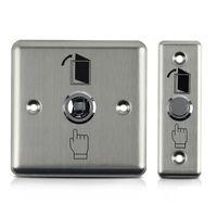 12V in acciaio inox Uscita di sicurezza Push Button interruttore a casa con dispositivo di apertura di uscita per Home Controllo di protezione magnetico di sicurezza di accesso della serratura