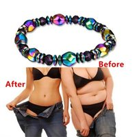 "1Pcs Multicolor Magnetic Bracelet Beads Hematite Stone for Therapy Health Care Magnet Hematite Beads Bracelet Men""s Jewelry"