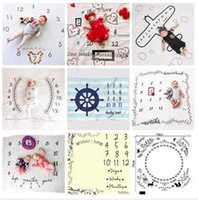 100*100cm Newborn Photography Props Blanket Letters Numbers ...