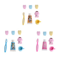 4Pcs Set Erasers Toothpaste Toothbrush Kids Dental Learning ...