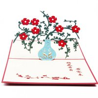Wholesale origami flowers buy cheap origami flowers 2018 on sale 6 photos wholesale origami flowers for sale 3d pop up origami paper laser cut plum flower greeting mightylinksfo
