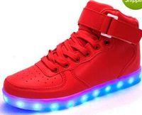 eur 25-43 dance Led dance gold leuchtend gold rot Leuchtet USB Lade high top Blinkt in Turnschuhen Freizeitschuhe für Erwachsene und Kinder ma