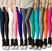Women Candy Colored Fluorescent Leggings Fashion Slim Pencil...