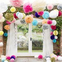 Tissue Paper Flower Ball Färgglada Handgjorda Pom Poms Bollar För Bröllopsfest Hem Dekorationer Tillbehör Fabrik Direkt 3 51Hz9 XB