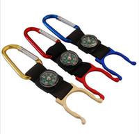 Multifunktions keychian mit mini kompass flasche schnalle hängen auf tasche metall schlüsselanhänger für camping kletterausrüstung robust einfach tragen 0 85bs zz