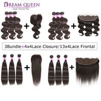 Hot Brazilian Virgin Hair Straight Body Wave 3 Bundles With ...