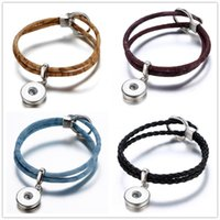 Noosa Chunks pu leather metal 18mm snap button bracelet for ...