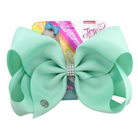 JoJo Kids Girl Bows + Logo 8 inches 12 colors Child hair acc...