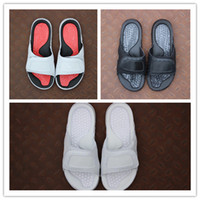 Wholesale 13 XIII Hydro BLACK RED white slippers MEN basketb...