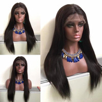 Natural Color 100% Virgin Long Silky Straight Lace Wigs for ...