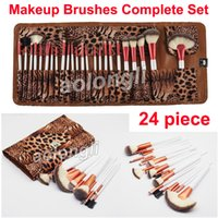 24 Piece Makeup Brushes Leopard Brush Complete Set Face and ...