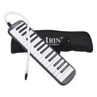 إيرين مجموعة 1 32 بيانو مفتاح نمط الميلوديكا مع صندوق الجهاز الأكورديون قطعة الفم ضربة مجلس مفتاح (أسود)