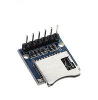 Kostenloser Versand! 1 teile / los micro sd speicherplatine mini mini sd kartenmodul micro memory shield modul mit pins für arduino avr arm