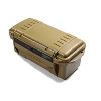 Caja de herramientas al aire libre impermeable a prueba de golpes de almacenamiento de supervivencia Portátil caja de engranajes EDC contenedor con caja seca con parachoques de goma al aire libre Gadgets