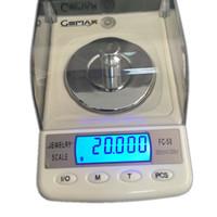 을 Freeshipping 50g의 0.001g의 보석 다이아몬드 보석 캐럿 디지털 전자는 휴대용 고정밀 계수 연구소 균형 6units FC-50 저울
