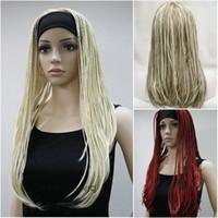 Дамский парик косы парики 3/4 половину парик оголовье Cosplay Fancy партии парик + парик крышки