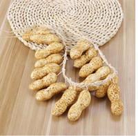 Konstgjord Fake Vegetabilisk Fruktsträng 16 Fake Peanut LifeLike Hängande För Hem Restaurang Väggdekoration