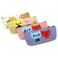 1 Set of 4 Large Capacity Canvas Pen Pencil Case Stationery ...