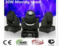 DMX Stadium Punkt bewegt LED Mini bewegliches Hauptlicht 30W DMX DJ 8 Gobos Effekt Bühnenlicht