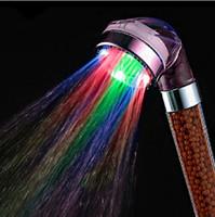 Водить здоровый ручной душ ванная комната воды головки ливня сбережений лечебный камень высокое давление тела