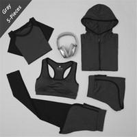 XC هاس LadiesTracksuits للنساء مجموعة تجريب اليوجا رياضة ملابس الرياضة البرازيلي + سستة مقنعين سترة + سروال + شورت + الرياضة التي شيرت