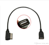 Medya-in USB Adaptörü Kablo Fit Audi AMI MMI VW Skoda Superb MDI USB Araba Ses MP3 Müzik Arabirimi Adaptörü A3 Golf MK7 MK6