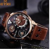 Eyki armée hommes lumineux sport montre à quartz Homme Horloge Noir Bracelet homme montre étanche relogio masculino vente chaude