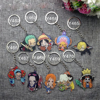 Anime ONE PIECE Zoro Nami Usopp Tony Sanji Brook Acrylic Key...