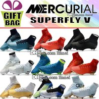 Original High Top Soccer Cleats Socks Mercurial Superfly V F...