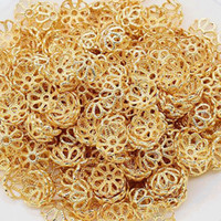 1000 unids / lote 7 mm 4 colores Plata / oro plateado Flor Caps Spacer For Beads hallazgos finales