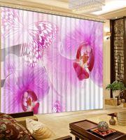 Moderne Luxus Vorhänge Für Wohnzimmer Blackout Romanticflower 3D Vorhang  Küche Schlafzimmer Dekoration