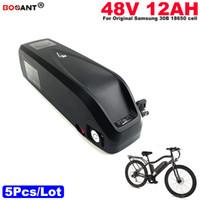 Venta al por mayor 5 unids / lote 13S batería de iones de litio 48 v 12AH E-Bike batería de bicicleta eléctrica para Bafang BBSHD 1200W motor envío gratis