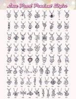Mezcla 500 estilo 18k jaulas de perlas de oro colgantes Oyster Lockets DIY deseo amor collares collares dama niña buen regalo