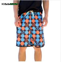 KISSyuer Mens Quick Dry Boardshorts Summer New Summer Pantaloncini larghi da spiaggia Dot Print Beach Shorts Uomo Short Bottoms SBS1147