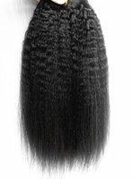 Бразильские Человеческие Волосы Девственницы Реми Кудрявый Прямые Волосы Утка Человеческих Мягких Двойных Нарисованных Расширений Волос Необработанный Естественный Черный Цвет