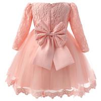 아기 소녀 Christening 가운 유아 공주님 공주님 드레스 첫 번째 생일 복장 어린이 어린이 파티 착용 드레스 소녀 공식적인 Vestido