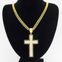 Hip hop Jewelry Crucifix Cross Pendant Necklaces 18K Gold Pl...
