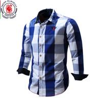 2018 recién llegado de la camisa de los hombres camisa de manga larga para hombre camisas de vestir marca de moda casual estilo de negocios camisas 100% algodón 064