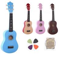 21 polegada Ukulele Iniciante Havaí 4 Cordas Guitarra Ukelele para Crianças Crianças Meninas Presentes de Natal + Nylon Cordas + Pick