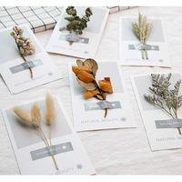 Fleurs séchées cartes de remerciement cartes postales invitations carte de voeux pour Noël nouvel an cadeau d'anniversaire de Saint-Valentin