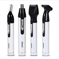 NOUVEAU 4 en un Tondeuse à cheveux rechargeable pour hommes trimmer oreille visage sourcils nez épilation sourcils Tondeuse pour nez Sans fil