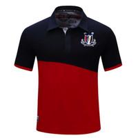 Polos dos homens M-3XL mais Camisa do verão Design de retalhos listrados Moda manga curta Masculino Casual T-shirt